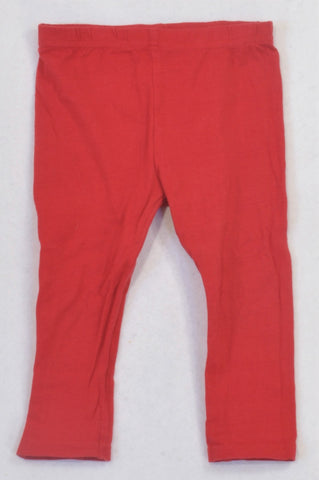 Edgars Basic Red Leggings Girls 2-3 years