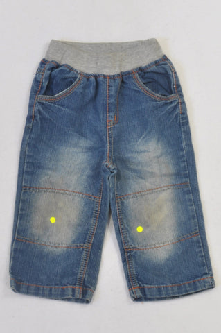 Ackermans Stone Washed Banded Jeans Boys 12-18 months