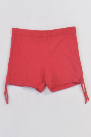 Ackermans Basic Red Play Shorts Girls 2-3 years