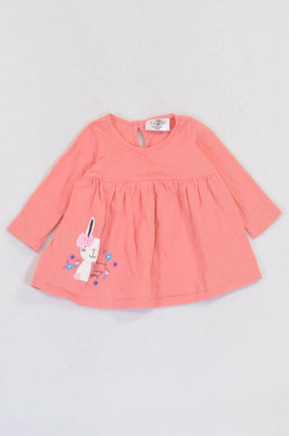 Pick 'n Pay Coral Bunny Dress Girls 3-6 months