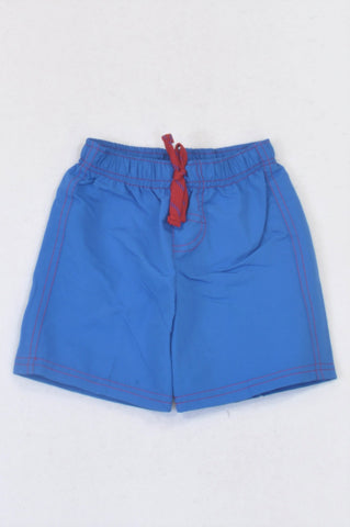 Pep Blue Lightweight Red Drawstring Shorts Boys 6-12 months