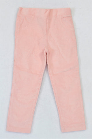 KDS Basic Peach Corduroy Pants Girls 2-3 years