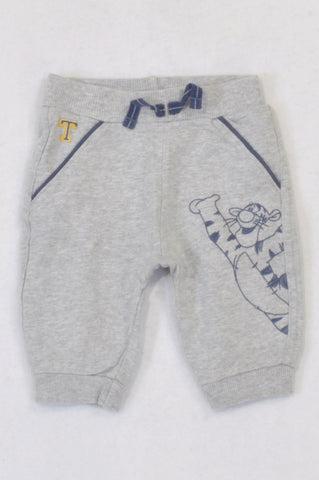 George Heathered Grey Embroidered Tigger Track Pants Boys 3-6 months