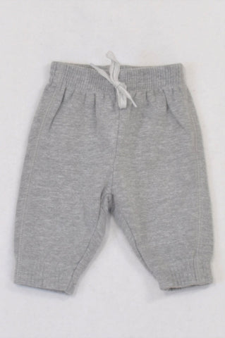 Woolworths Basic Heathered Grey Cuffed Track Pants Boys 0-3 months