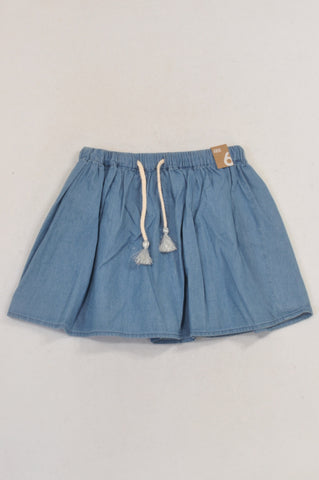 New Cotton On Chambray Elise Tie Skirt Girls 5-6 years