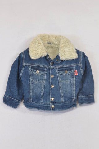 7 Ounce Denim Sherpa Lined Jacket Unisex 3-6 months