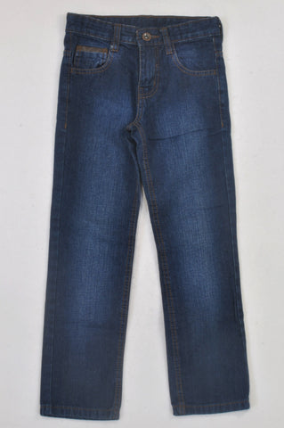 Woolworths Dark Wash Denim Straight Leg Jeans Boys 7-8 years
