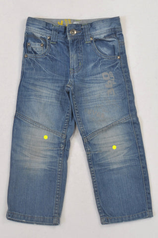 Woolworths Stonewashed Denim 360 FUP Jeans Boys 2-3 years