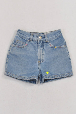 Circo Denim Rhinestone Pocket Shorts Girls 18-24 months
