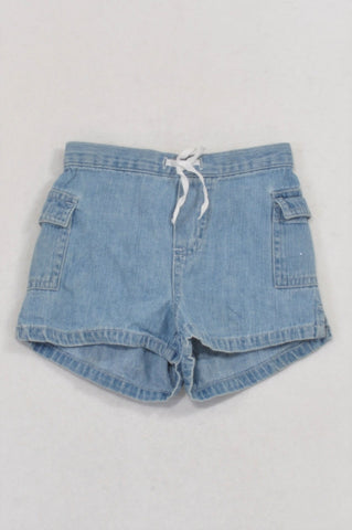 Circo Denim Cargo Pocket Drawstring Shorts Girls 18-24 months