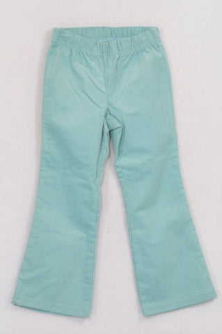 New Woolworths Aqua Corduroy Flare Pants Girls 2-3 years