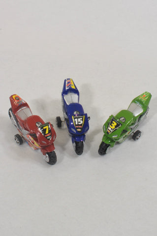 3 Pack Motorcycle Toys  Unisex 2-6 years