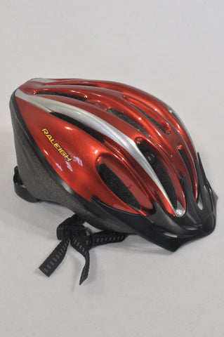 New Raleigh Red Bicycle Helmet Accessory Unisex 4-10 years