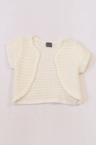 New GK Collection Ivory Squiggle Knit Cardigan Girls 5-6 years