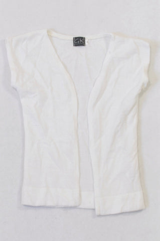 New GK Collection Basic White Summer Cardigan Girls 3-4 years