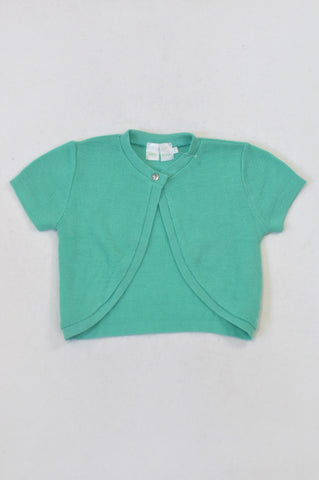 New See-Saw Turquoise Knit Cardigan Girls 7-8 years