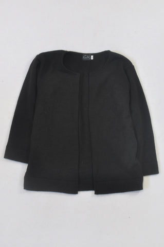 New GK Collection Black Long Sleeve Knit Cardigan Girls 7-8 years