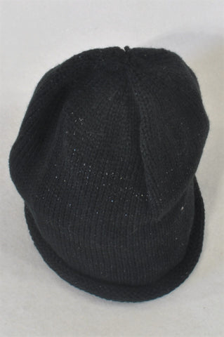 New GK Collection Black Glitter Beanie Girls 7-14 years