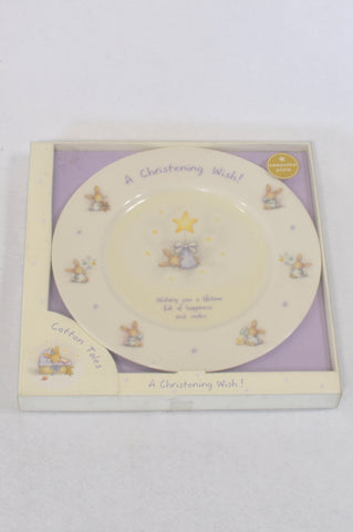 New Cotton Tales Mouse Keepsake Plate Gift Unisex N-B to 3 years