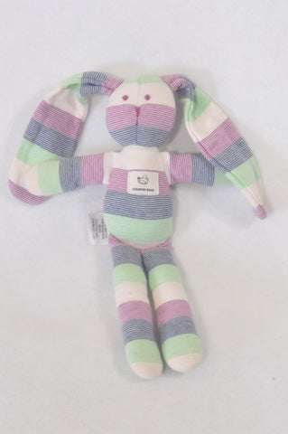 New Country Road Multi Color Stripe Bunny Soft Toy Girls All Ages