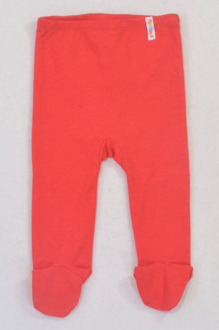 New Pipsqueak Red Footed Leggings Unisex 6-12 months