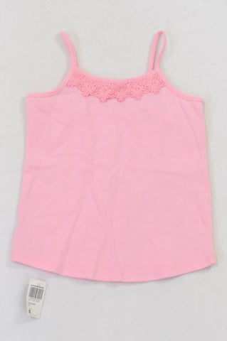 New Woolworths Pink Lace Inset T-shirt Girls 3-4 years