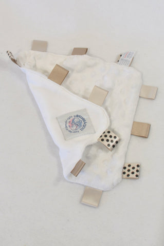 Baby Sense White & Beige Taglet Soother Unisex N-B to 2 years
