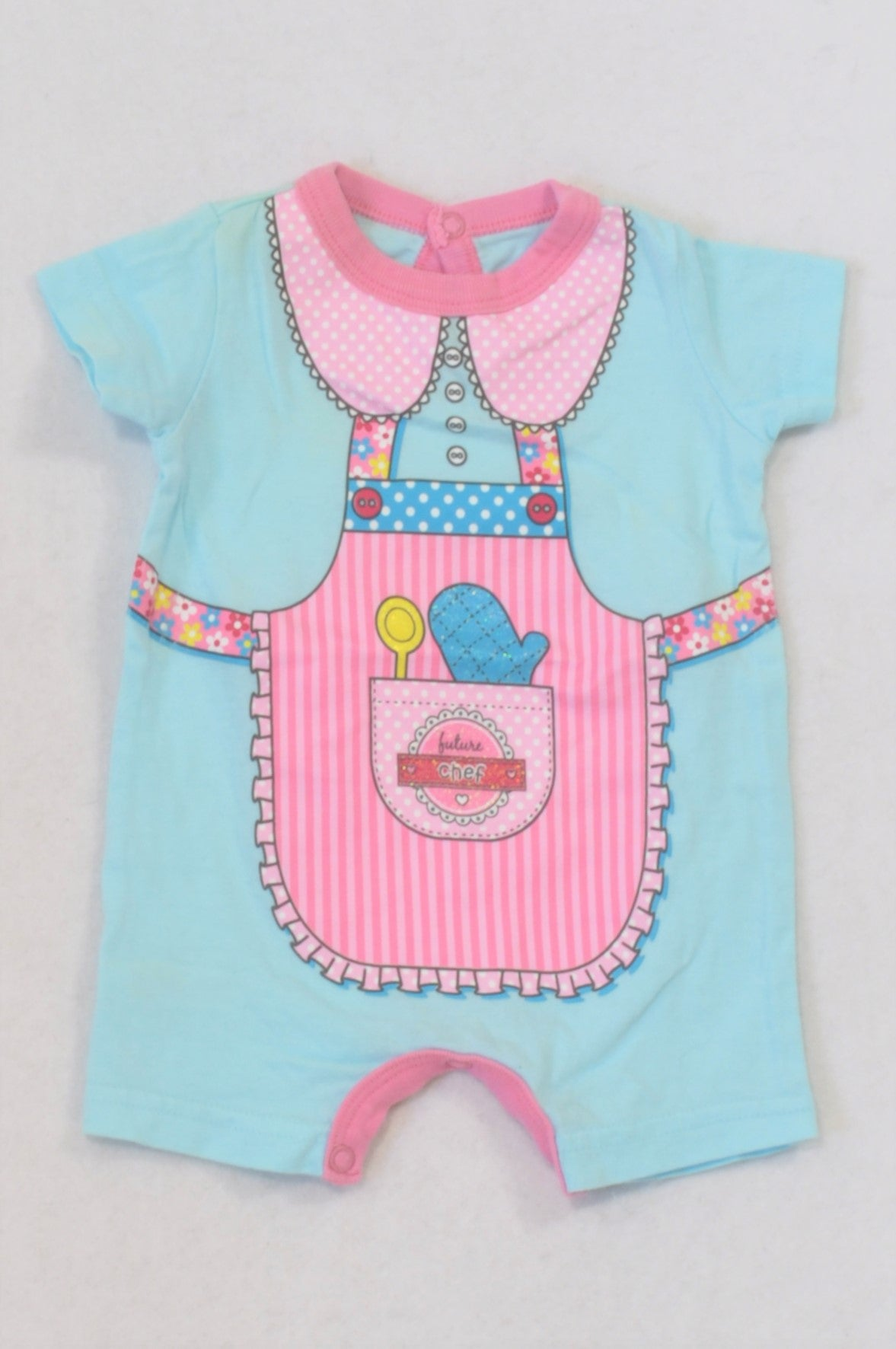 Woolworths Aqua Future Chef Romper Girls N-B