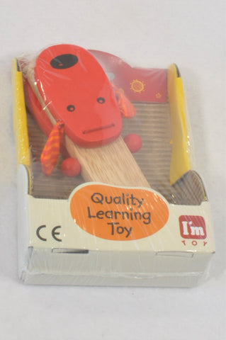 New I'm Toy Red Dog Clapper Musical Instrument Toy Unisex 1-6 years
