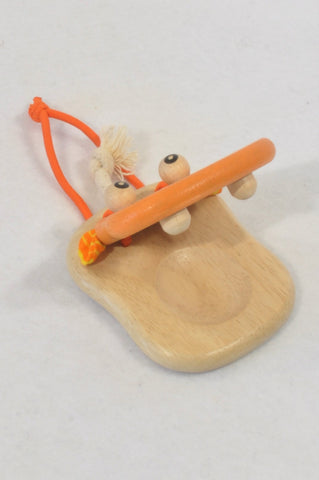 New I'm Toy Orange Hippo Castanet Musical Instrument Toy Unisex 1-3 years