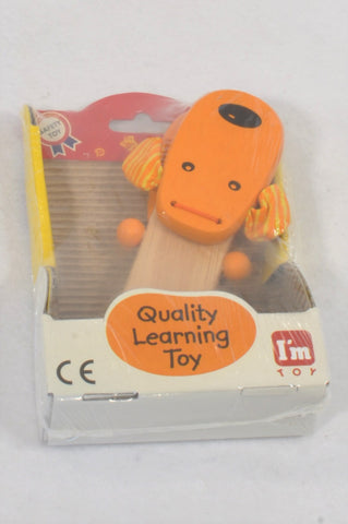 New I'm Toy Orange Dog Clapper Musical Instrument Toy Unisex 1-6 years