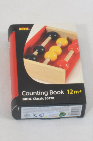 New Brio Wooden Mini Abacus Counting Book Toy Unisex 1-3 years