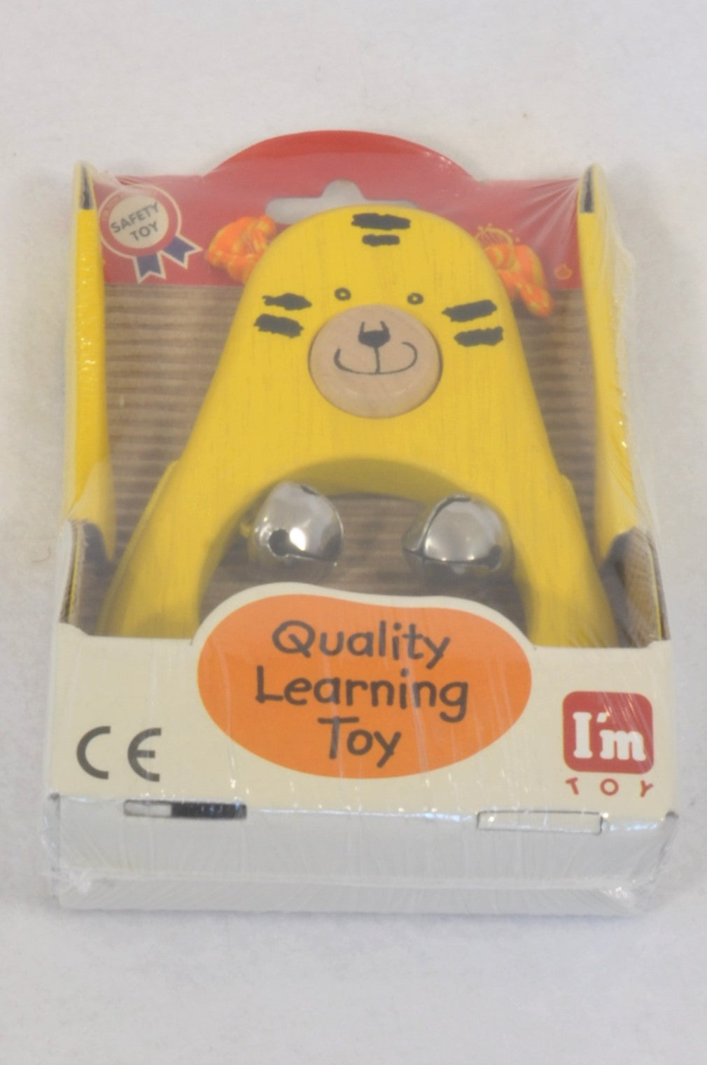 New I'm Toy Yellow Tiger Bell Musical Instrument Toy Unisex 1-6 years