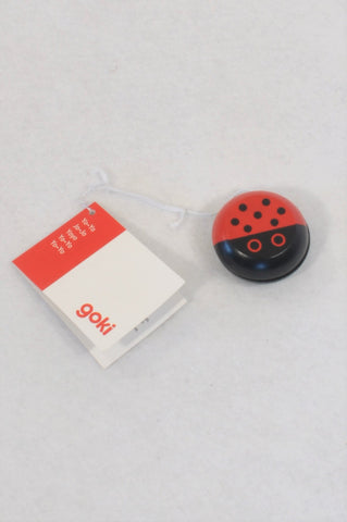 New Goki Wooden Ladybug Yoyo Toy Unisex 4-14 years