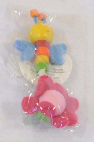 New Pegasus Toys Dragonfly & Pink Flower Magnet Decor Girls 3-14 years