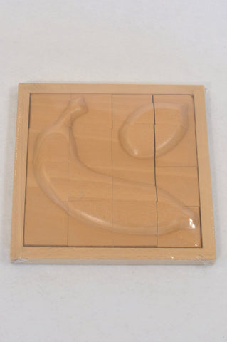 New Wooden Banana Puzzle Unisex 2-4 years