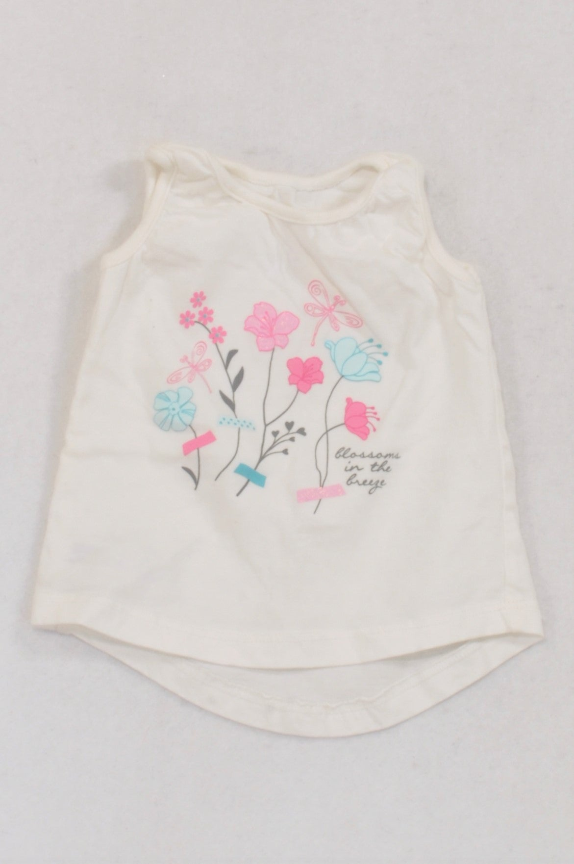 Woolworths White Floral Blossoms T-shirt Girls 3-6 months