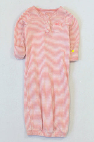 Carter's Pink & White Thin Stripe Sleep Sack Girls N-B