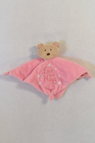 Pink Teddy Rattle Soother Girls N-B to 2 years