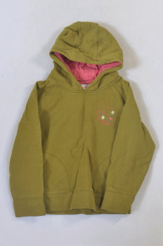 Next Green Butterfly Flower Embroidered Hoodie Girls 7-8 years