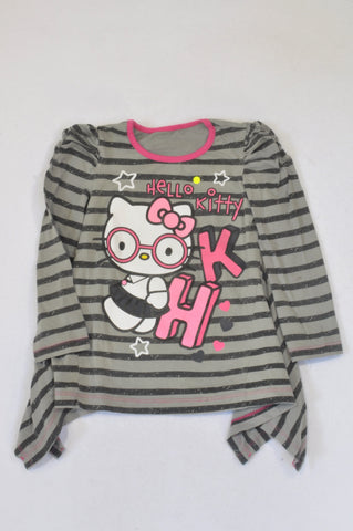Woolworths Grey Striped Hello Kitty Top Girls 3-4 years