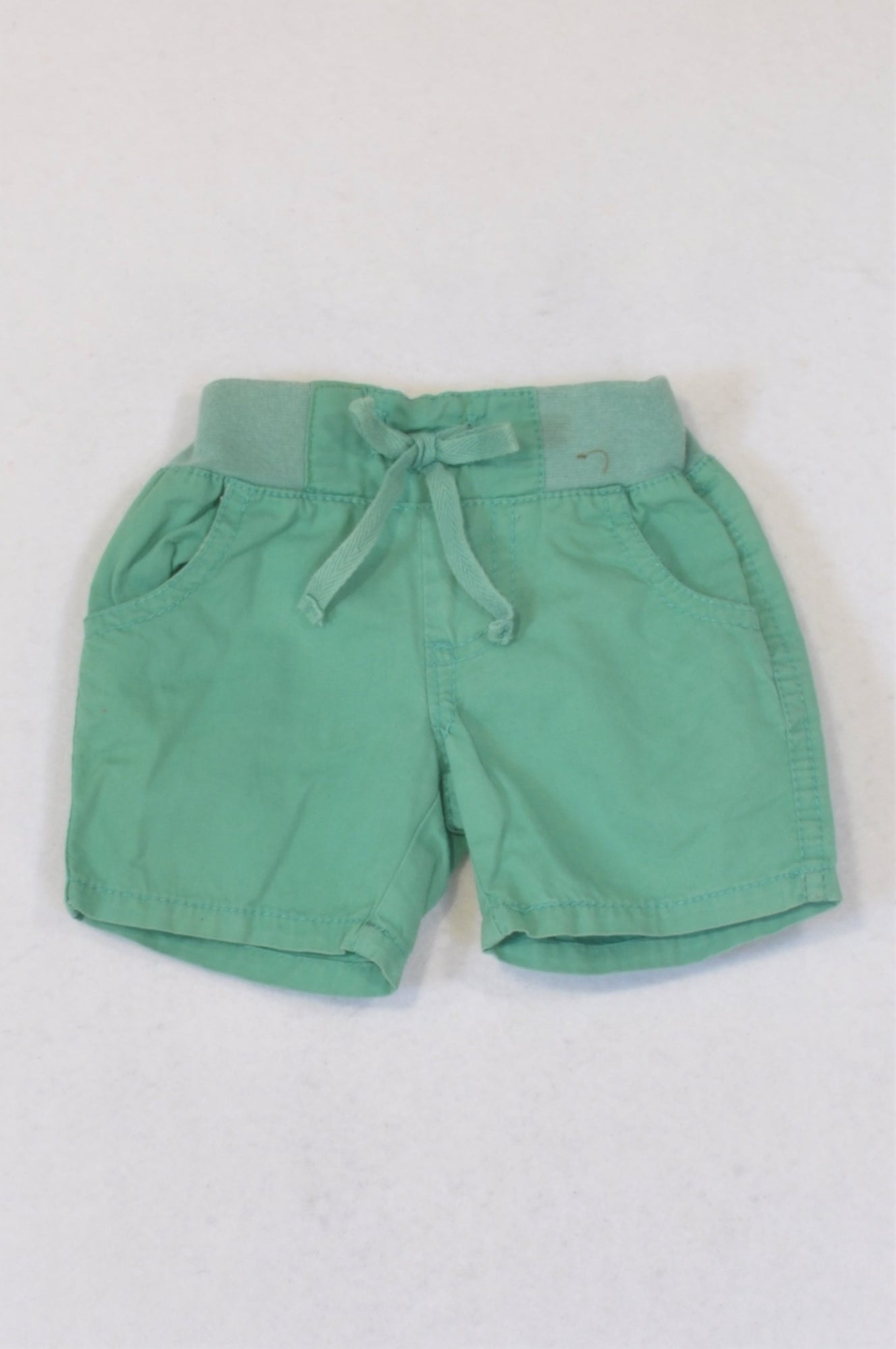 Cotton On Soft Green Banded Shorts Girls 0-3 months