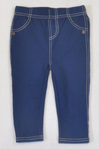 New Pep Basic Blue Jeggings Unisex 12-18 months