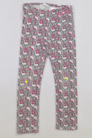 H&M Grey Hello Kitty Leggings Girls 7-8 years
