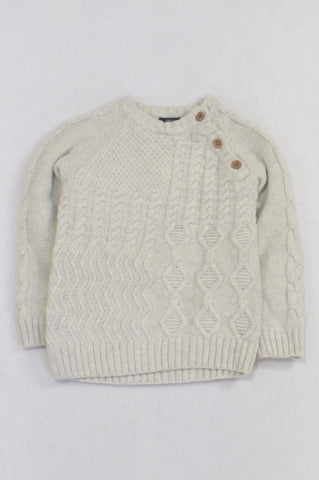 Next Beige Cable Knit Jersey Boys 18-24 months
