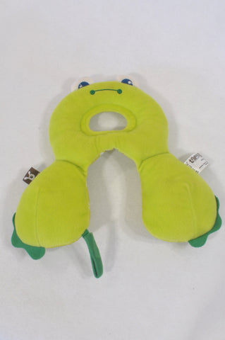 Ben-Bat Green Frog Head Support Pillow Accessory Unisex N-B to 1 year