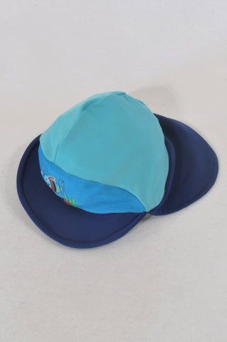 Woolworths Blue Fish Swim Hat Boys 6-12 months