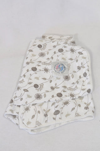 Baby Sense Neutrals Bird & Floral Weighted Nursing Cover Unisex N-B to 6 months