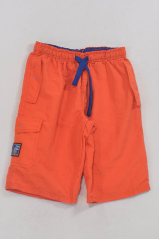 JBR Basic Orange Blue Trim Swim Shorts Boys 10-11 years
