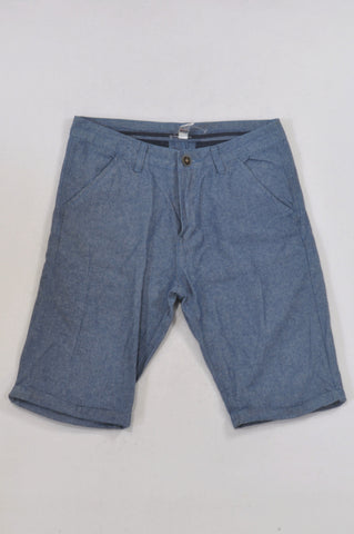 Woolworths Basic Chambray Shorts Boys 12-13 years